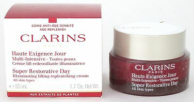 Clarins Super Restorative Day Cream, All Skin Types 1.7 oz./50 ml. New In Box