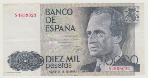 SPAIN 10000 pesetas 1985