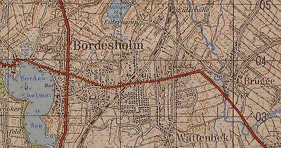 1926 Bordesholm, topographische Karte, 1:50.000, gedruckt 1962, ungefaltet !!