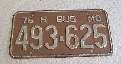 1976 Missouri License plate 493625 Bus