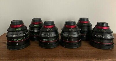 Canon CN-E 6-lens Cinema Primes Set
