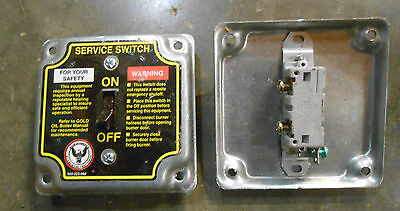 Gold Oil Boiler Steel 1 Toggle Service Switch 4 X 4 - Oil Burner Qty-9 E-3