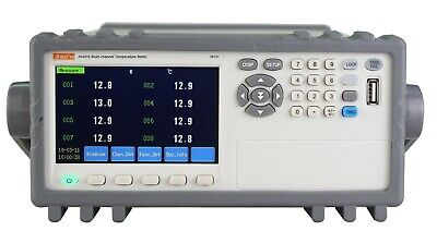 16-channel Thermocouple Pt100 Temperature Tester Meter Data Recorder 4.3 Rs232