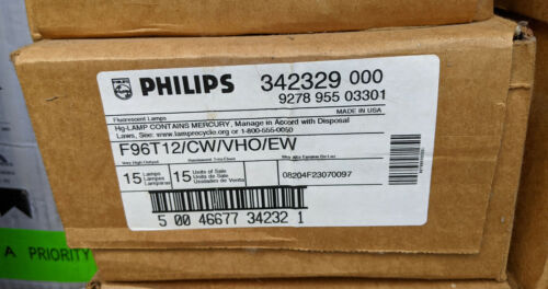 Case of 15 NEW Philips F96T12/CW/VHO/EW 8