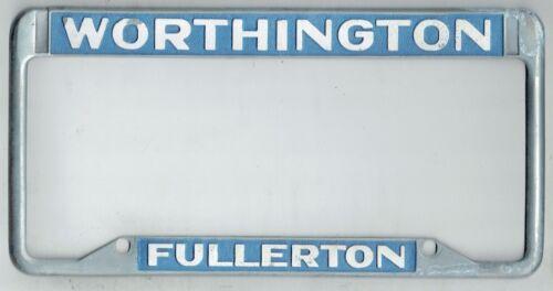 RARE Fullerton California Worthington Dodge Vintage Dealer License Plate Frame