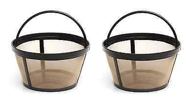 Mr. Coffee GTF2-1 Basket-Style Gold Tone Permanent Filter 10 - 12 cup, 2 Pack