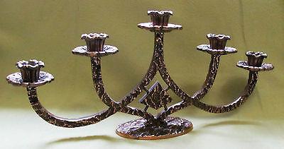 Bronze Kerzenleuchter 5 flammig