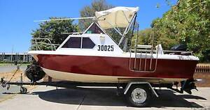 18ft half cabin penguin boat with trailer Beaconsfield Fremantle Area Preview