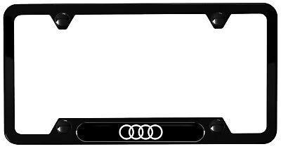 - Audi Genuine Accessory-Audi Rings License Plate Frame(Black Powder Coated)