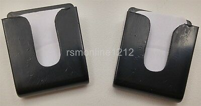 Lot of 2 Workman MH4B Black Double Sided Tape Style CB Radio Microphone Holders