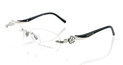 New BVLGARI BV2123-K 394 53mm Black Silver RX Prescription Eyeglasses (Bvlgari Prescription Glasses)