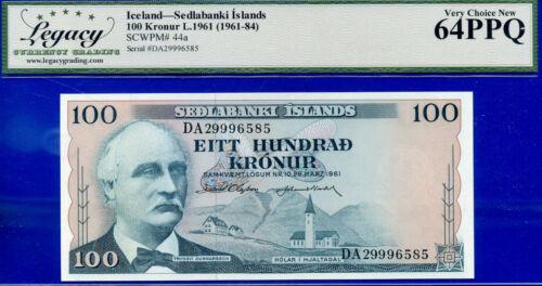 Iceland - 1961 Sedlabanki Islands -100 Kronur -SCWPM# 44a - Choice-New  #996585