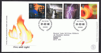 Fire and Light 2000 First Day Cover - SG2129 to SG2132 Edinburgh Cancel