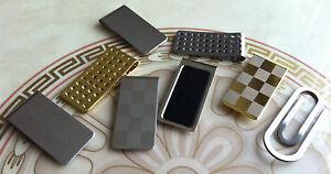 Stainless-Steel-Mens-Slim-MONEY-CLIP-Gold-Silver-Card-Cash-Holder-Novelty-Gift
