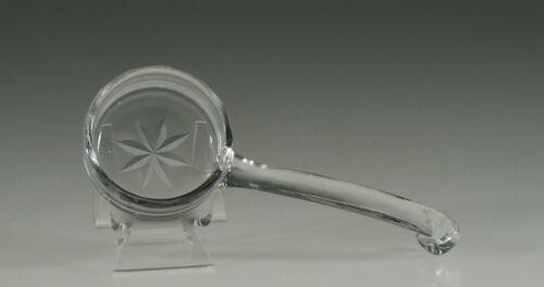 Vintage Depression Glass Crystal 5 Inch Ladle Star & Piecrust Cuttings c.1935