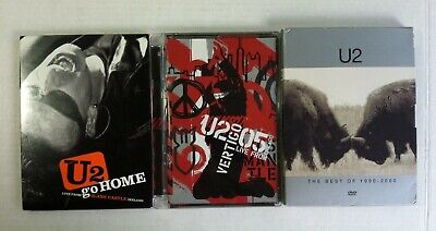 Lot 3 U2 DVD Collection Best of 1990-2000 Go Home 05 Live Chicago Vertigo(3