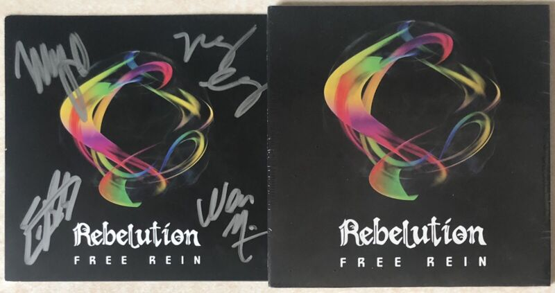 Rebelution Signed Autographed Free Rein CD Booklet With Brand New CD