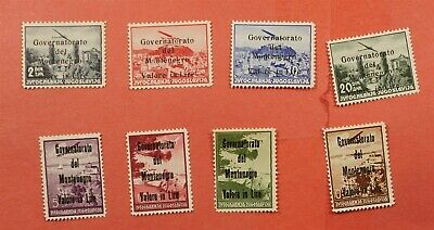 8 ITALY OCCUPATION MONTINEGRO OVPTS MNH * AUTHENTICATORS MARKS ON BACK