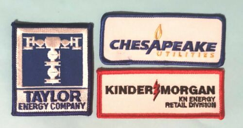 3 ENERGY-Utility Company Patches- Kinder Morgan-Taylor & Chesapeake Utilities