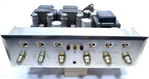SCOTT 299 C 7591 TELEFUNKEN TRIODE 12AX7 TUBE PHONO TONE PREAMP POWER AMPLIFIER