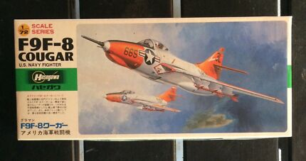 Hasegawa F9F-8 Cougar US Navy Fighter 1/72 Model Kit