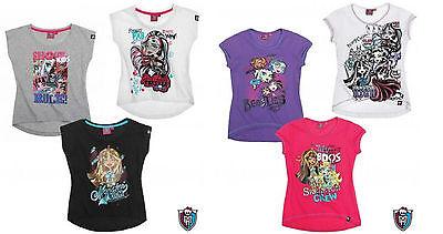 Monster High T-Shirt, Gr.128, 140, 152, 164, schwarz,weiß,grau,lila,pink,weiß (T-shirt Monster High)