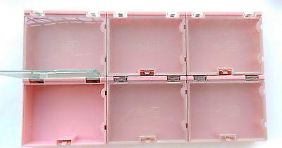 12 Pcs Smd Smt Electronic Component Storage Box Pink 02p
