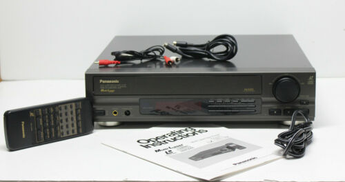 Panasonic LX-101U Multilaser Laser Disc Player w/ Remote, Manual, Cables
