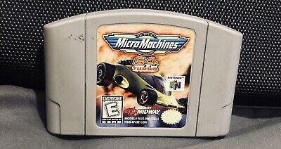Micro Machines 64 Turbo Nintendo 64 Authentic N64 Cartridge Game Racing Vtg Fun