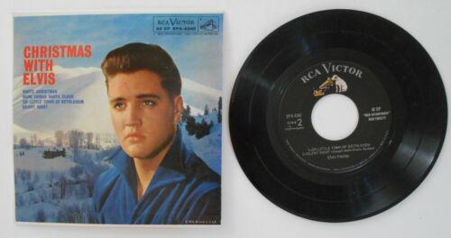 EUC NICE Christmas With Elvis 45 Record EPA-4340 RCA Victor 4 Holiday Songs