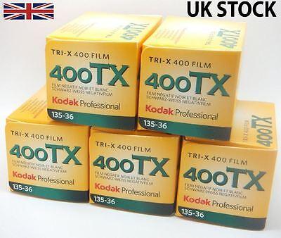 5 Pack: Kodak Tri-X 400 TX 35mm 36 exposures ISO400 B&W Negative Film