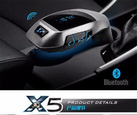 Wireless In-car X BLuetooth fm transmitter (can be linked to your phone) handsfree calls