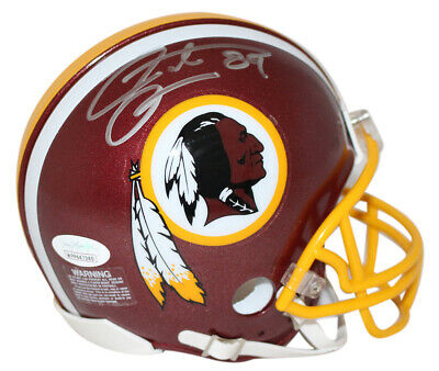 Santana Moss Autographed/Signed Washington Redskins Mini Helmet JSA -