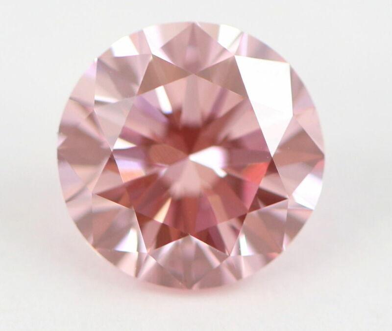 1.50 carat Fancy Intense Pink Round Cut Loose Natural Diamond GIA Certified RARE