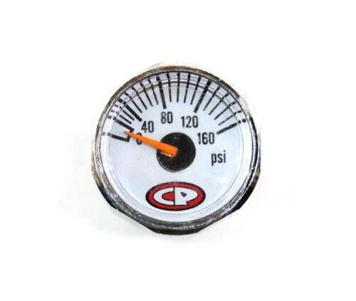 CP Custom Products Micro Pressure 0-160 PSI Nitrogen Air Tank Marker Gauge