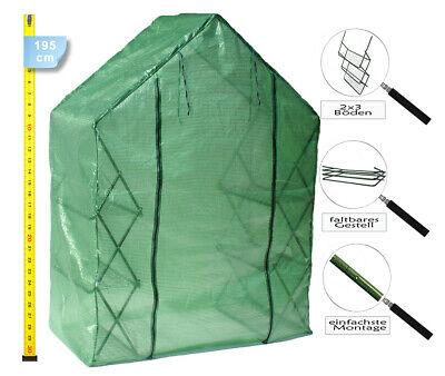 """Invernaderos de Plástico Plegable 195cm Transitable Vivero Tipo """"Benjamin"""""""