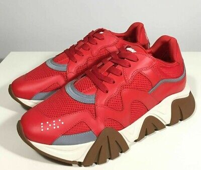 Brand-new Men's Versace Red Squalo Sneakers in US 10/UK 9/Euro 43