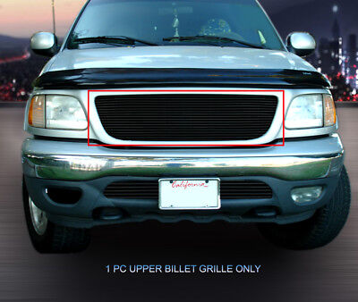 - Black Billet Grille Insert For 1999-2003 Ford F-150/Harley Davidson/Lightning