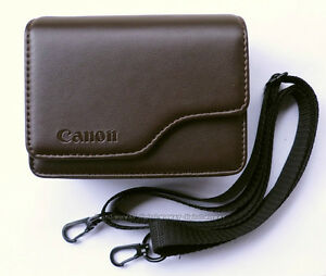 Brown Leather Case For Canon Powershot G16 G15 G12 G11 SX240 SX275 HS S110 S120