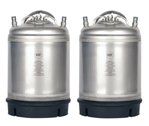 2 Pack New 2.5 Gallon Ball Lock Kegs Homebrew - Beer - Cold Brew - Free Shipping