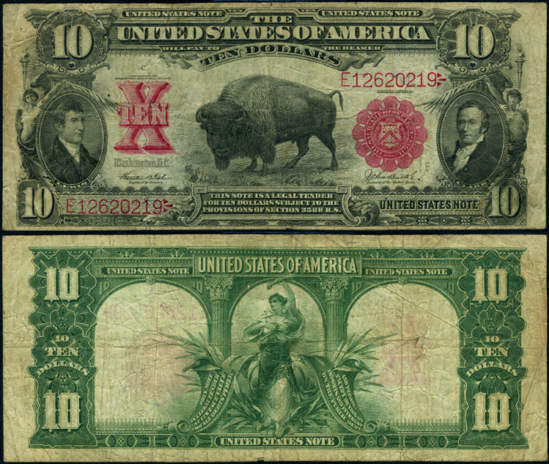 FR. 120 $10 1901 Legal Tender Fine