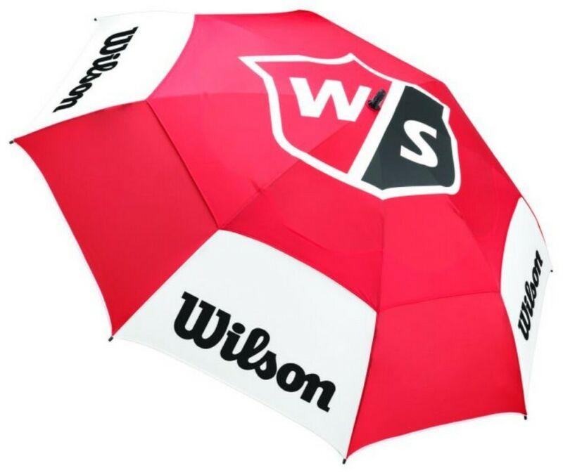 "Wilson Staff Tour Golf Umbrella Golf Bag (68"") Golfing Double Canopy UV Protect"