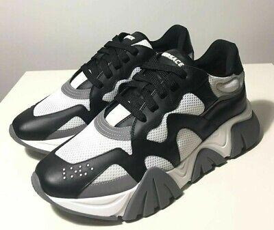 Brand-new Men's Versace Black/White Squalo Sneakers in US 12/UK 11/Euro 45