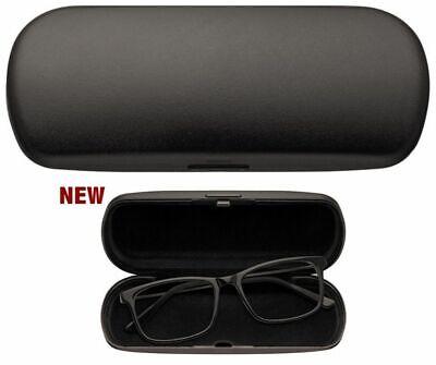 Brillenetui schwarz matt incl. Microfasertuch Hartschalen-Etui Kunststoff HC4