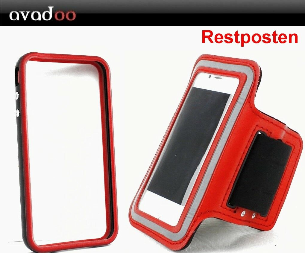 iPhone 5 / 5S Running Case & Bumper TPU Laufen Joggen Rot