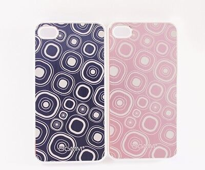 2x iPhone 4 / 4S Case Bumper in Lila & Pink Transparent Hülle Backcover ()