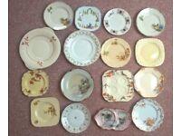 16 Vintage tea plates