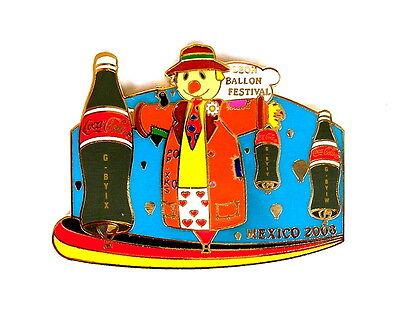 """COCA COLA BALLON """"SPECIAL SHAPE"""" Pin / Pins - LEON BALLOON FESTIVAL 2008 [3680]"""