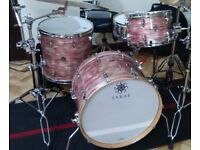 Sakae trilogy Drums - 3 piece In pink oyster finnish . Excellent condition