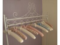 Shabby Chic Iron Clothes /Garment Rail / Laundry Drying. Stunning.